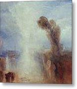 Neapolitan Fisher Girls Surprised Bathing By Moonlight Metal Print by Joseph Mallord William Turner