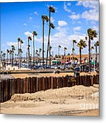 Newport Beach Dory Fishing Fleet Market Metal Print by Paul Velgos