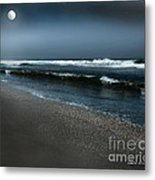 Night Beach  Metal Print by Artist and Photographer Laura Wrede