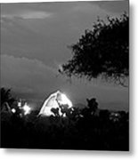 Night Time Camp Site Metal Print by Kantilal Patel