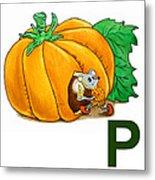 P Art Alphabet For Kids Room Metal Print by Irina Sztukowski