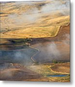 Patterns Of The Land Metal Print by Mike  Dawson