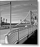 Pittsburgh - Roberto Clemente Bridge Metal Print by Frank Romeo