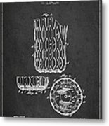 Poll Table Pocket Patent Drawing From 1916 Metal Print by Aged Pixel