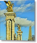 Pont Alexandre IIi Metal Print by Mountain Dreams