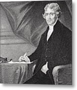 Portrait Of Thomas Jefferson Metal Print by Alonzo Chappel