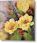 Prickly Pear In Bloom Metal Print by Summer Celeste