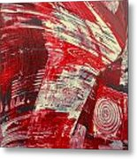 Red And White Metal Print by Gabriele Mueller