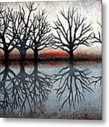 Reflecting Trees Metal Print by Janet King
