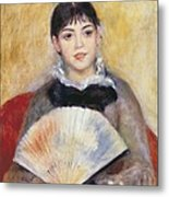 Renoir, Pierre-auguste 1841-1919. Girl Metal Print by Everett