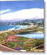 San Elijo And Hwy 101 Metal Print by Mary Helmreich