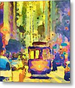 San Francisco Trams 12 Metal Print by Yury Malkov