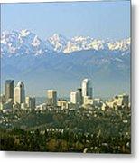 Seattle Skyline Metal Print by King Wu