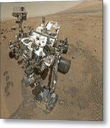 Self-portrait Of Curiosity Rover Metal Print by Stocktrek Images