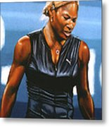 Serena Williams Metal Print by Paul Meijering