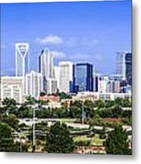 Skyline Of Uptown Charlotte North Carolina Metal Print by Alex Grichenko