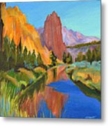 Smith Rock Canyon Metal Print by Tanya Filichkin