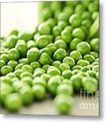 Spilled Bowl Of Green Peas Metal Print by Elena Elisseeva