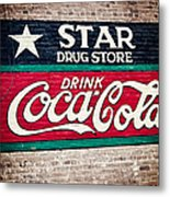 Star Drug Store Wall Sign Metal Print by Scott Pellegrin