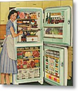 Stor-mor  1950s Uk Fridges Freezers Metal Print by The Advertising Archives