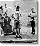Street Musicians Of Rome Metal Print by Mountain Dreams