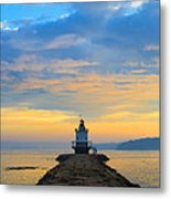 Sunrise At Spring Point Lighthouse Metal Print by Diane Diederich