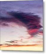 Sunset And Clouds Red Sensations. Metal Print by Stefano Piccini