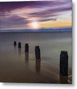 Sunset Beach Metal Print by Ian Mitchell
