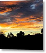 Sunset New Zealand  Metal Print by Joyce Woodhouse
