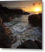 Sunset Pool Metal Print by Mike  Dawson