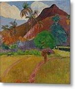 Tahitian Landscape Metal Print by Paul Gauguin