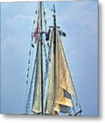 Tall Ship Harvey Gamage Metal Print by Skip Willits
