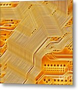 Technology Abstract Background Metal Print by Michal Boubin