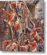 The 5th Division Storming By Escalade Metal Print by William Barnes Wollen