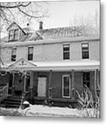 the ananda arthouse in the former st josephs rectory in Forget Saskatchewan Canada Metal Print by Joe Fox