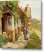 The Puppy Metal Print by Arthur Claude Strachan