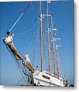 The Tall Ship Windy Metal Print by Dale Kincaid