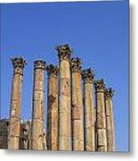 The Temple Of Artemis At Jerash Jordan Metal Print by Robert Preston