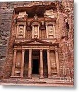 The Treasury In Petra Jordan Metal Print by Robert Preston
