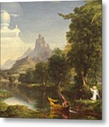 The Voyage Of Life Youth Metal Print by Thomas Cole