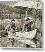 Trapping In The Adirondacks Metal Print by Winslow Homer