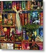 Treasure Hunt Book Shelf Metal Print by Aimee Stewart