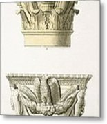 Two Column Capitals Metal Print by .