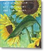 Vince's Sunflowers 1 Metal Print by Debbie DeWitt