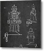 Vintage Toy Robot Patent Drawing From 1955 Metal Print by Aged Pixel