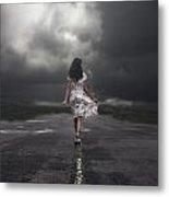 Walking On The Street Metal Print by Joana Kruse