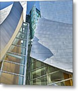 Walt Disney Concert Hall Vertical Los Angeles Ca Metal Print by David Zanzinger