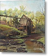 Watermill At Daybreak  Metal Print by Mary Ellen Anderson