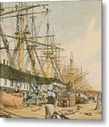 West India Docks From The South East Metal Print by William Parrot