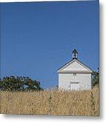 White Country Church Metal Print by David Litschel